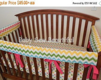 Custom Crib Rail Guards- You design with your choice of fabric