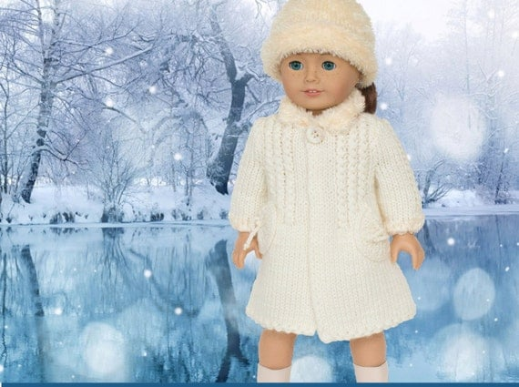 Knitting Patterns For 17 Inch Dolls : Knitting Pattern Fits American Girl Doll 18 inch by LelleModa