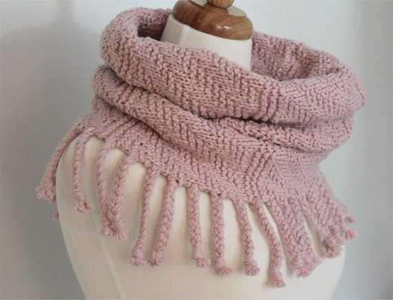 Download KNITTING PATTERN- Fringed Cowl Scarf PDF knitting pattern from thekn...