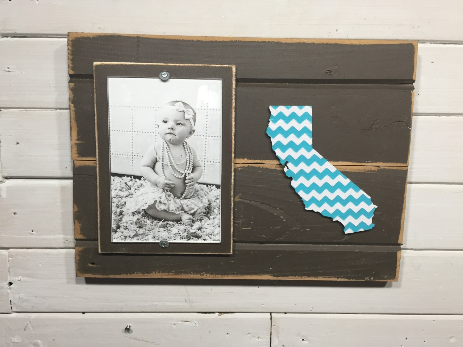 California Chevron Picture Frame Holds 4 Quot X6 Quot Photo