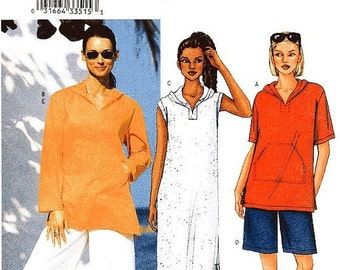 ON SALE Butterick Sewing Pattern 3142 - Misses' Top, Cover-Up, Shorts and Pants - Sz L/Xl