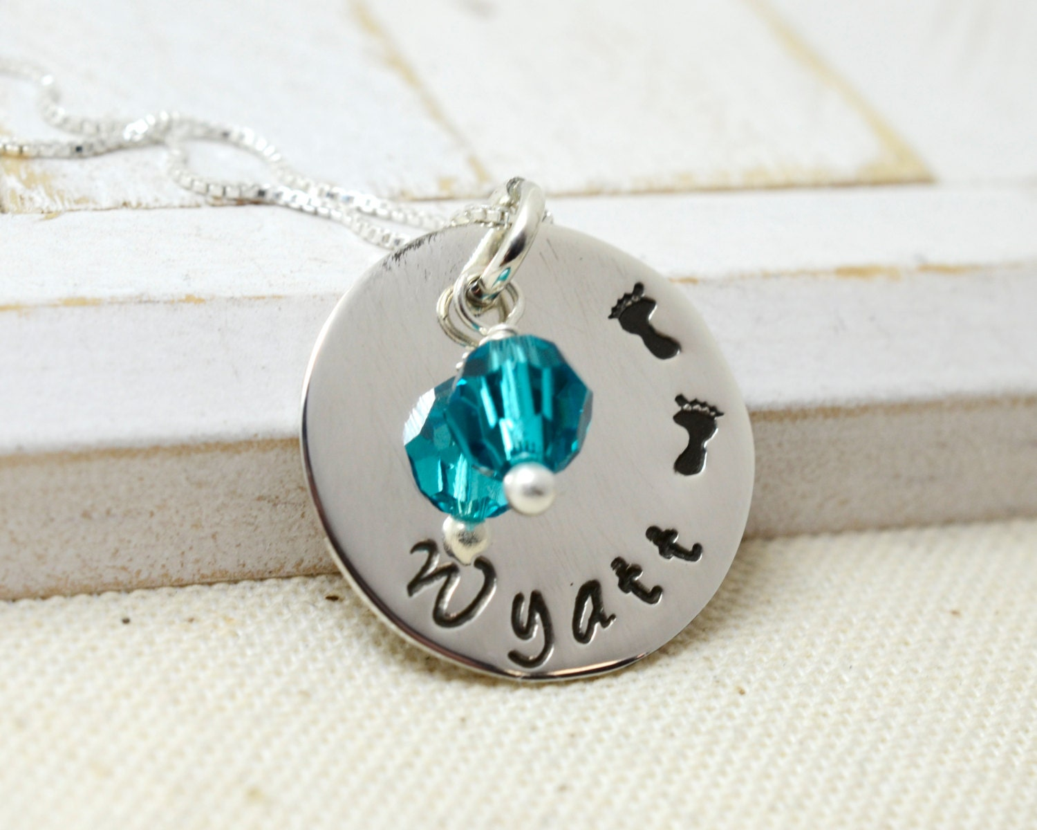 Little footprints necklace personalized mom mommy for Same day jewelry repair