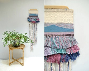 Woven Wall Hanging  // 70s Fringe Weaving  // THE MOUNTAIN