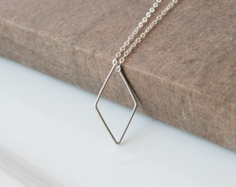 Long Necklace,Silver Necklace,Dainty Necklace,Layering Necklace,Delicate Silver Necklace,Layered