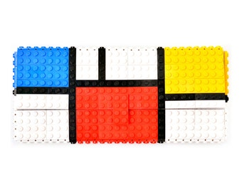 Mondrian tribute clutch purse made with LEGO® bricks FREE SHIPPING purse handbag legobag trending fashion