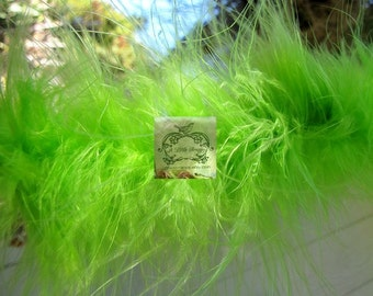 Lime Green II Marabou Boa Feathers