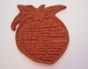 rubber stamp - PEACH CRISP recipe - Peach Crisp in a Quart Jar recipe rubber stamp