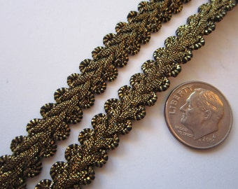 vintage metallic trim bty - Europa Imports - made in Switzerland - metal and rayon - 3/8 inch