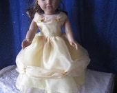 A beauty in this Belle inspired dress for your 18 inch dolls such as American Girl