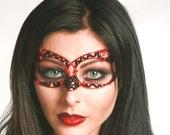 Red and black womens masquerade mask, masked ball mask, gothic mask, gothic costume, eye mask, ladies mask, masquerade ball mask,