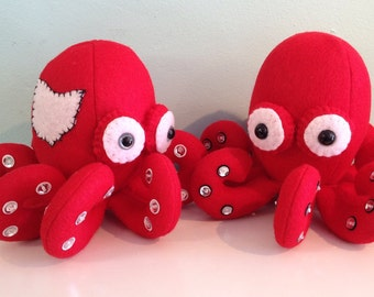 Ohio Scarlet and Grey Octopus Stuffed Animal Plush