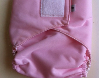 Ready to Ship - Diaper Cover - Velcro - pink