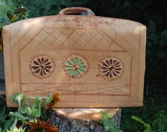 Gypsy Boho Vintage Suitcase Wedding Card Holder