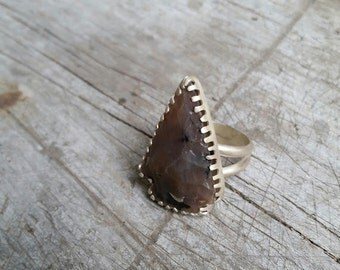 Carved Arrowhead Statement Ring