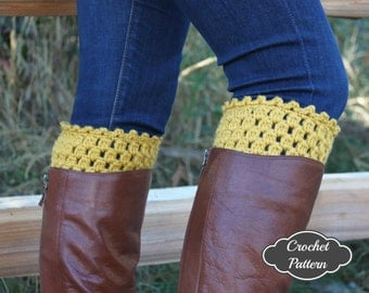 CROCHET PATTERN - Crochet Boot Cuff Pattern, Boot Topper Tutorial, Boot Cuffs, Fall Crochet Pattern, Boot Accessories