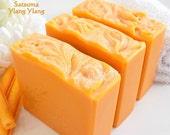 SATSUMA YLANG YLANG Soap (mini bar) - citrus floral notes - made with fresh cream, and silk - handmade by Bonny Bubbles