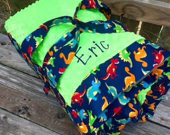 Personalized  Nap Mat cover with both attached Minky Blanket and attached pillowcase for Kindermat Daydreamer