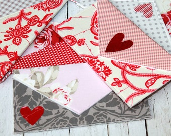 Love Note Banner in Red, Pink, and Gray