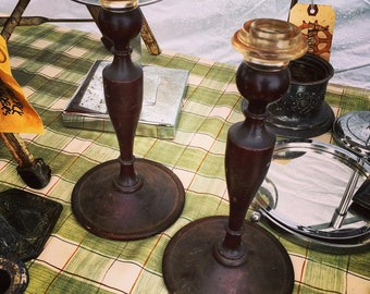 Candle Stick Holders / Wooden / Instant collection / Primitive