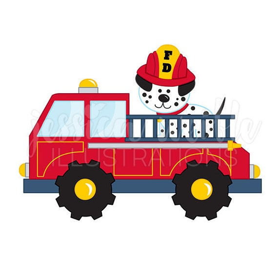 fire truck with dalmatian cute digital clipart fire truck clip art rh catchmyparty com