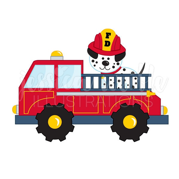 Clip Art Firetruck Clip Art fire truck clipart etsy with dalmatian cute digital clip art firetruck graphics illustration 125