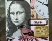 Mona Lisa A Conceptual AcEo  2.5 x 3.5 Artist Trading Card