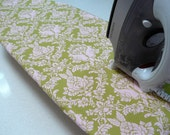 Ironing Board Cover TABLE TOP - pale pink rabbits on pale green