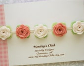 Felt Flower Crown, Baby Flower Crown, Felt Flower Garland, Felt Flower Headband, Vintage Pink Flower Crown, Newborn/Toddler/Baby Headband