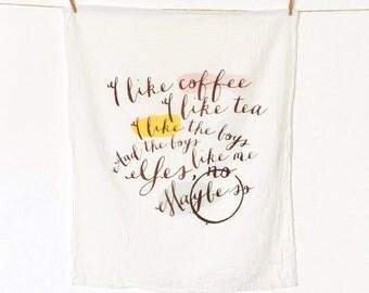 Coffee & Tea Flour Sack Kitchen Towel