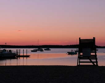 Sunset Photography, Boat Photography,  Cape Cod Photography, Beachscape, Nature Photography, Coastal Photography, Wall Art, Home Decor
