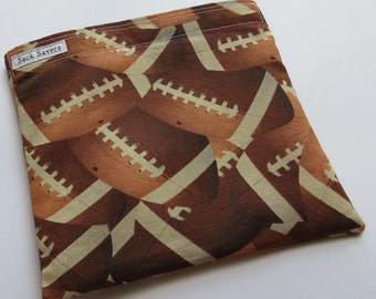 Reusable Sandwich And Or Snack Bag Football Snack Bag Sports