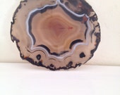 Gorgeous Vintage Agathe Slice Brown Large Gemstone Translucid