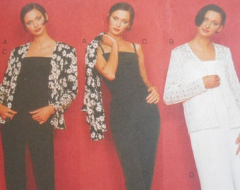 Vogue 1991 Sewing Pattern FIVE EASY PIECES jacket, dress, top and pants size 12,14,16