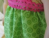 American Girl Green and Pink Nightgown; doll clothes for 18 inch doll