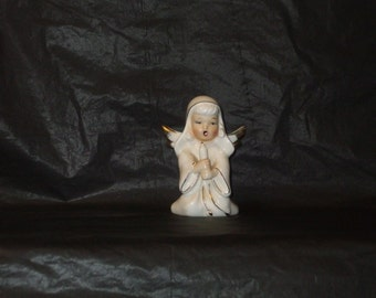 Vintage Japan Christmas GORGEOUS Angel Figurine Holding Candle