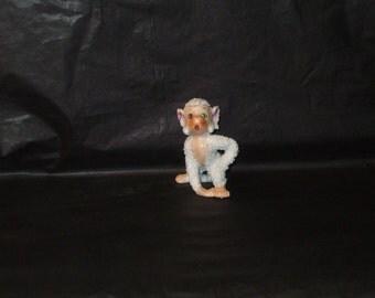 Vintage Japan Spaghetti Sugar Coated Snow Monkey Figurine ADORABLE