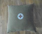 Vintage Army Blanket Pillow