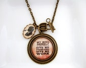 Sherlock Necklace Sherlock Holmes Quote Necklace
