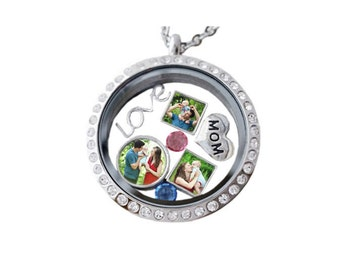 Floating Photo Charms/  Floating Locket charms /Mini Charms Photo /Floating Locket Charms /Magnetic Locket Necklace Christmas gift for her