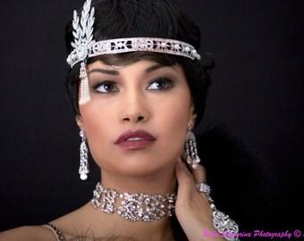 Rhinestone Bridal Headband, Bridal Rhinestone Headpiece,  Bridal Rhinestone Tiara