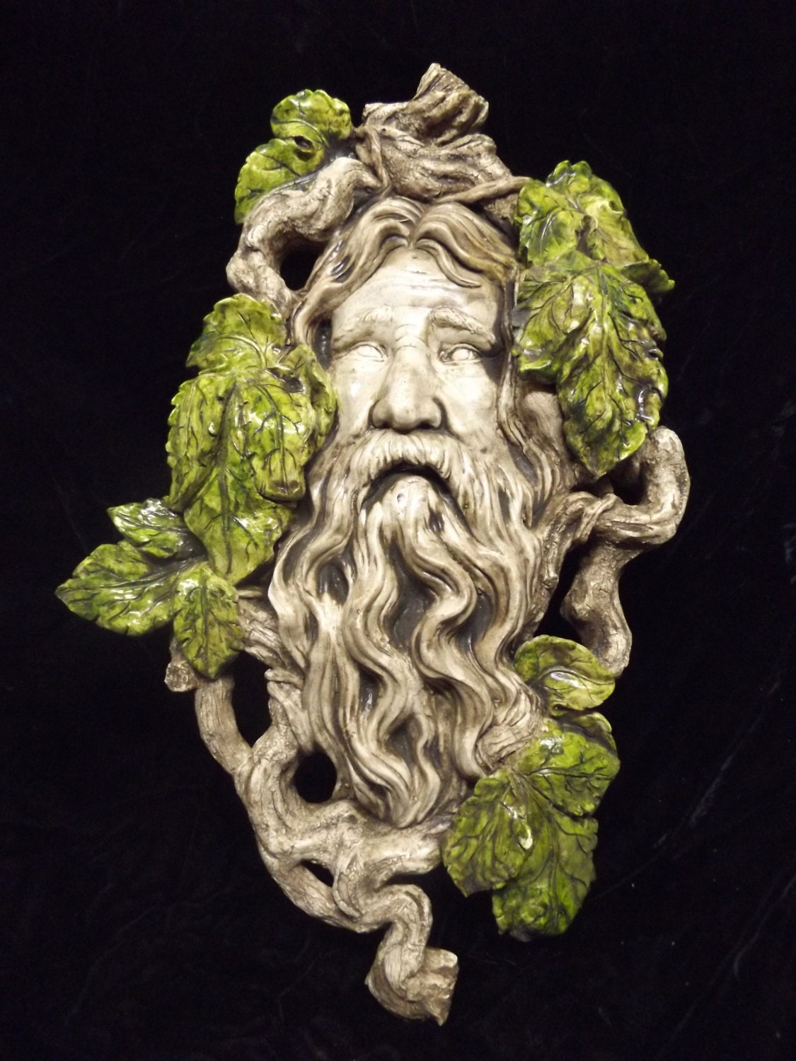 Celtic Greenman Armband: Greenman Wall Plaque Medieval Leave Forest Man Celtic Woodland
