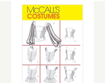 ON SALE 10% Off McCalls 4107 Sewing Costume Pattern Renaissance Top 6 8 10 12