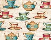 Teacups - Lula Bijoux Studio - Four Seasons - Half Yard