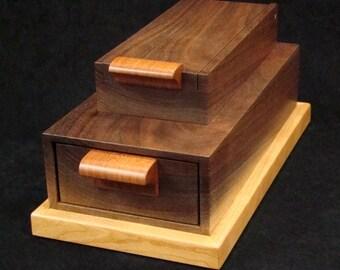 Black Walnut Wooden Jewelry Box