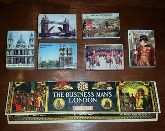 Vintage 1960's Matchbook/Matchbox Collection, Matchbox Views of London & The Business Man's London by Underground