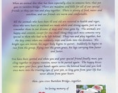 Private listing for Donna                      RAINBOW Bridge Pet MEMORIAL POEM pet dog cat personalized customized name