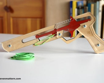 Rubber Band Gun Kit - Seven Shot Repeater