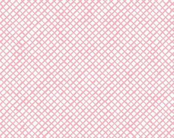 Loralie - Up and Away from Quilting Treasures - Full or Half Yard Pink Trellis