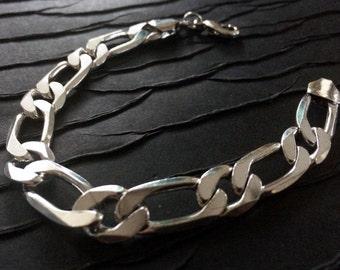 Men's Silver chain bracelet,Fine Link Chain Bracelet,Cuff,Men's Jewelry,Silver bracelet,man bracelet,Modern style by Taneesi