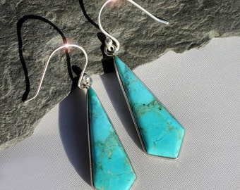 Desert Sky - Turquoise Sterling Silver Earrings